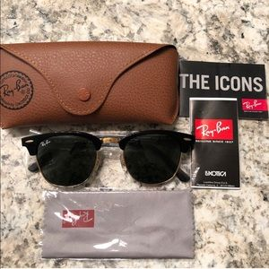 New Ray Ban Clubmaster Classic Sunglasses with box